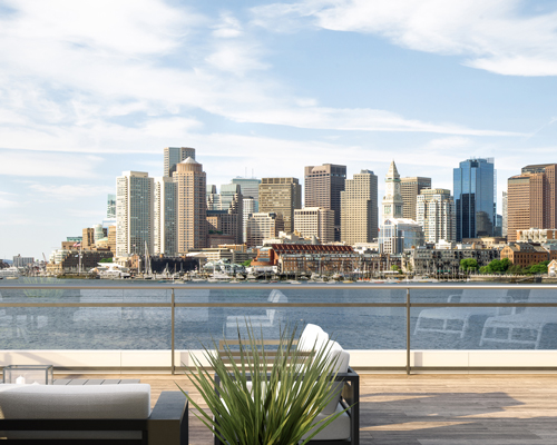 Terrace with city view